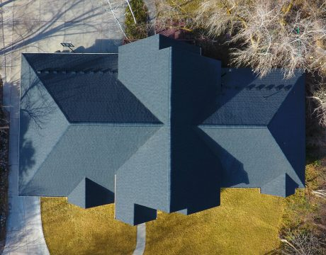 CertainTeed Landmark Moire Black Architectural Shingles with Diamond Deck Synthetic Underlayment and Ice and Water Shield